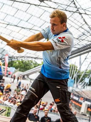 Jannik Lindner Athlet Stihl Timbersports - Bear Track Canada – Energy Drink